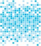 Abstracte blauwe pixelachtergronden royalty-vrije stock afbeeldingen