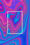 Abstracte blauwe psychedelische afficheachtergrond en hypnotic ontwerp, vloeistof stock illustratie