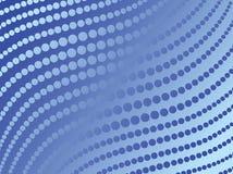 Abstracte blauwe punten, vector Vector Illustratie