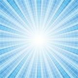 Abstracte blauwe radiale achtergrond vector illustratie