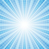 Abstracte blauwe radiale achtergrond Stock Foto