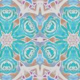 Abstracte blauwe rozen royalty-vrije illustratie