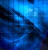 Abstracte blauwe samenstelling Stock Afbeelding
