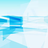 Abstracte Blauwe Schone Achtergrond met copyspace Royalty-vrije Stock Foto