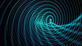 Abstracte Blauwe Science fictionachtergrond stock fotografie