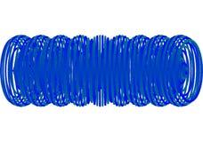 Abstracte blauwe spiraal Stock Foto