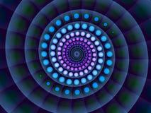Abstracte blauwe spiraalvormige achtergrond Stock Fotografie