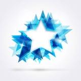 Abstracte blauwe ster Royalty-vrije Stock Foto's