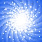 Abstracte blauwe sterachtergrond Royalty-vrije Stock Afbeelding