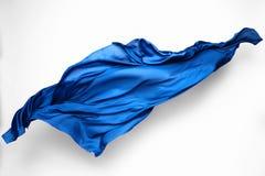 Abstracte blauwe stof in motie Royalty-vrije Stock Afbeelding