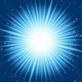 Abstracte blauwe stralen Stock Afbeelding