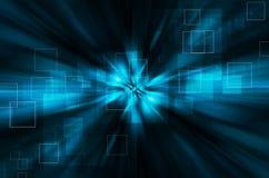 Abstracte blauwe technologie-achtergrond Stock Foto