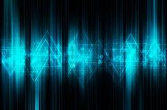 Abstracte blauwe technologie-achtergrond Royalty-vrije Stock Afbeeldingen