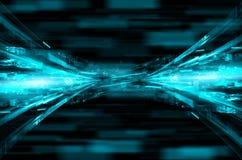 Abstracte blauwe technologie-achtergrond. Royalty-vrije Stock Afbeelding