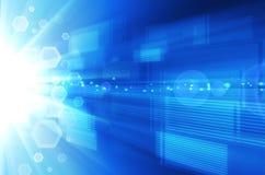 Abstracte blauwe technologieachtergrond. Royalty-vrije Stock Foto