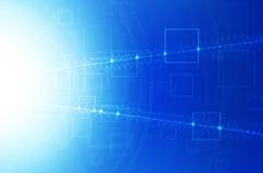 Abstracte blauwe technologieachtergrond. Royalty-vrije Stock Fotografie