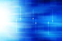 Abstracte blauwe technologieachtergrond. Stock Foto's