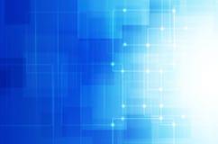 Abstracte blauwe technologieachtergrond. Stock Afbeelding