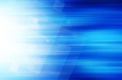 Abstracte blauwe technologieachtergrond Stock Afbeeldingen