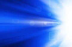 Abstracte blauwe technologieachtergrond. Stock Foto