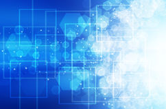 Abstracte blauwe technologieachtergrond. Stock Fotografie