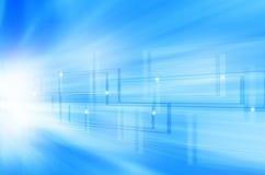Abstracte blauwe technologieachtergrond Stock Afbeelding