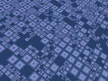 Abstracte blauwe technoraad Royalty-vrije Stock Fotografie