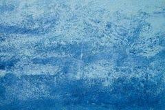 Abstracte blauwe textuur en achtergrond voor ontwerp Oude die muur in marineblauw wordt geschilderd en lichtblauw royalty-vrije stock afbeeldingen