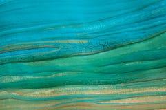 Abstracte blauwe textuur, het schilderen detail royalty-vrije stock foto