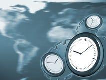 Abstracte blauwe tijdachtergrond, stock illustratie