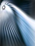Abstracte blauwe tunel Royalty-vrije Stock Afbeeldingen