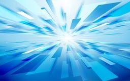 Abstracte blauwe van de technologie digitale hallo technologie van de rechthoeken lichte motie het perspectiefachtergrond Ruimte  Royalty-vrije Stock Afbeelding