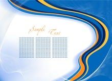 Abstracte blauwe vectorachtergrond Royalty-vrije Stock Foto