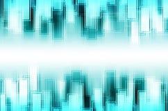 Abstracte blauwe vierkante achtergrond Royalty-vrije Stock Afbeelding
