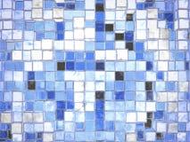 Abstracte Blauwe Vierkante Blokken Cartoony Stock Foto