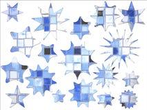 Abstracte Blauwe Vierkante Ster Gestalte gegeven Speciale aanbieding Stock Foto's