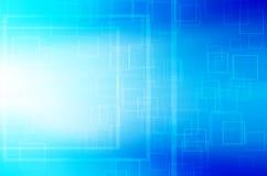 Abstracte blauwe vierkante technologie-achtergrond. Royalty-vrije Stock Afbeelding