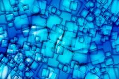 Abstracte Blauwe Vierkanten stock foto