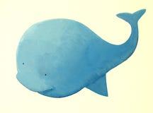 Abstracte blauwe vinvis Royalty-vrije Stock Afbeelding