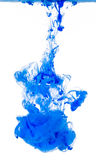 Abstracte Blauwe Vloeibare Verfwolk Stock Fotografie
