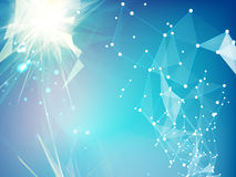Abstracte blauwe vorm Stock Afbeelding