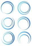 Abstracte blauwe vormen Royalty-vrije Stock Afbeeldingen