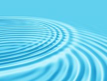 Abstracte blauwe waterachtergrond. Royalty-vrije Stock Foto