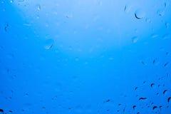 Abstracte blauwe waterdalingen Stock Fotografie