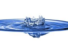 Abstracte blauwe waterplons Stock Afbeeldingen