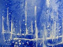 Abstracte Blauwe Waterverf Royalty-vrije Stock Fotografie