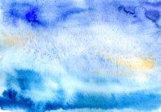 Blauwe waterverf Vector Illustratie