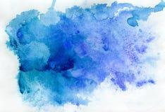 Abstracte blauwe waterverf Stock Illustratie