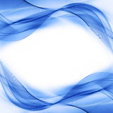 Abstracte blauwe wawe Royalty-vrije Stock Foto's