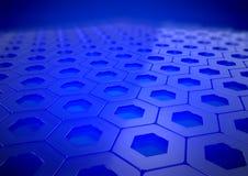 Abstracte Blauwe Weerspiegelende Bedrijfsachtergrond Royalty-vrije Stock Foto's